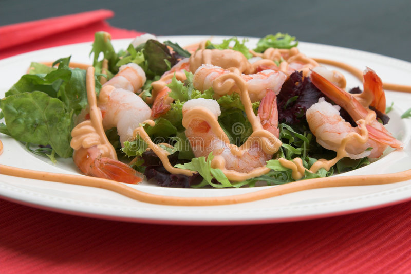 Delicious shrimp salad stock photography