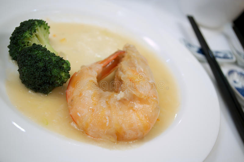 Delicious shrimp with vegetable royalty free stock photo