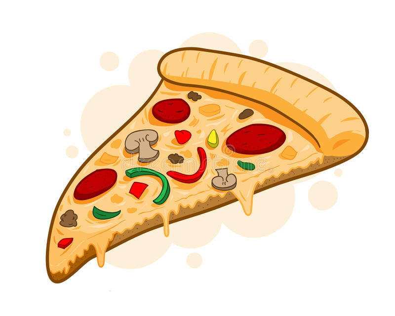 delicious slice of pizza vector illustration stock vector cheese pizza clipart free cheese pizza clipart
