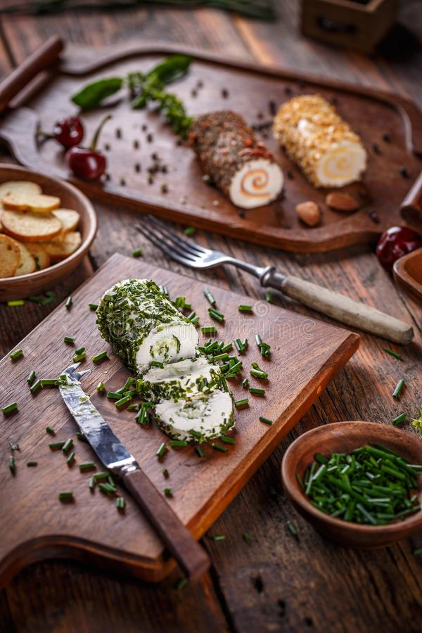 Delicious soft cheese stock photo