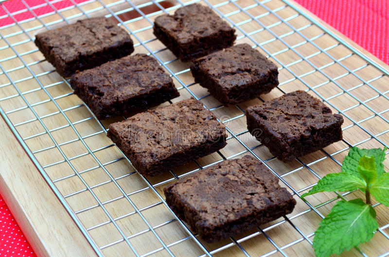 Delicious and soft fresh homemade brownie chocolate, square and stock photos