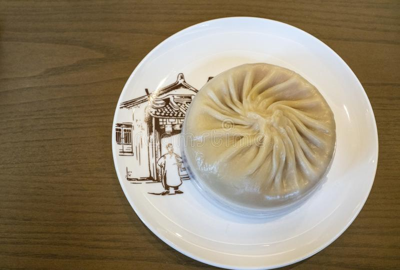 Delicious soup xiao long bao at Nanxiang Bun Shop stock photos