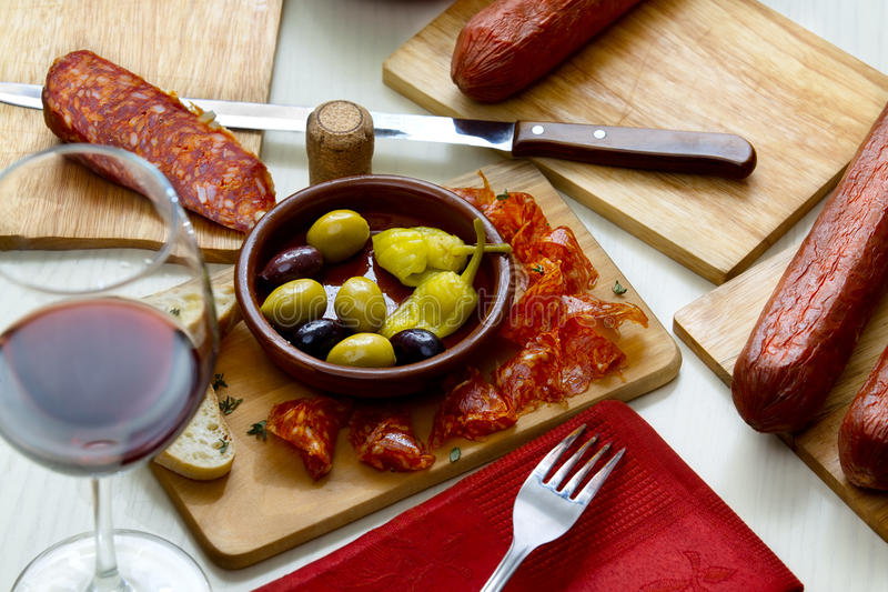 Delicious Spanish appetizers stock images