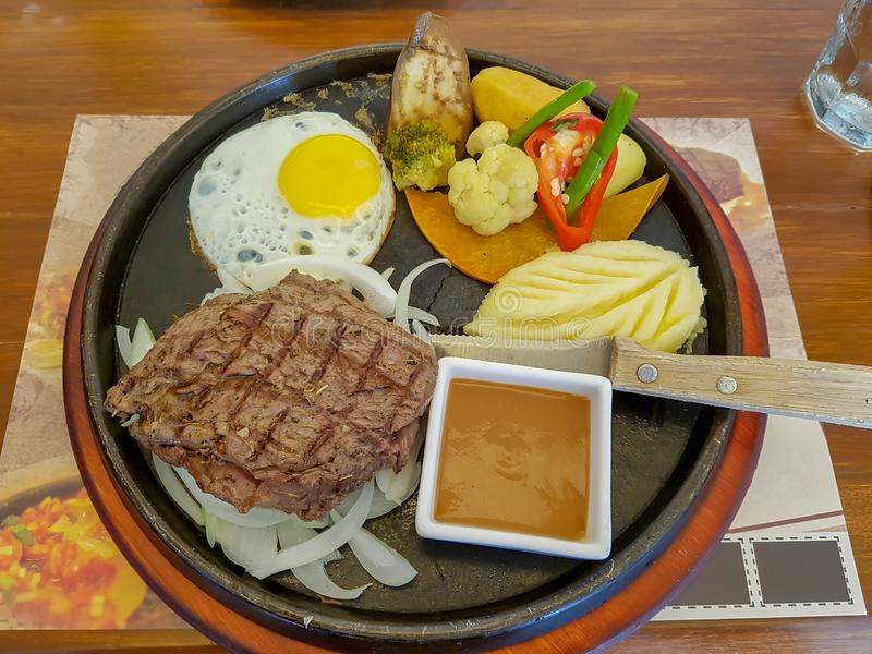 Delicious steak stock photos