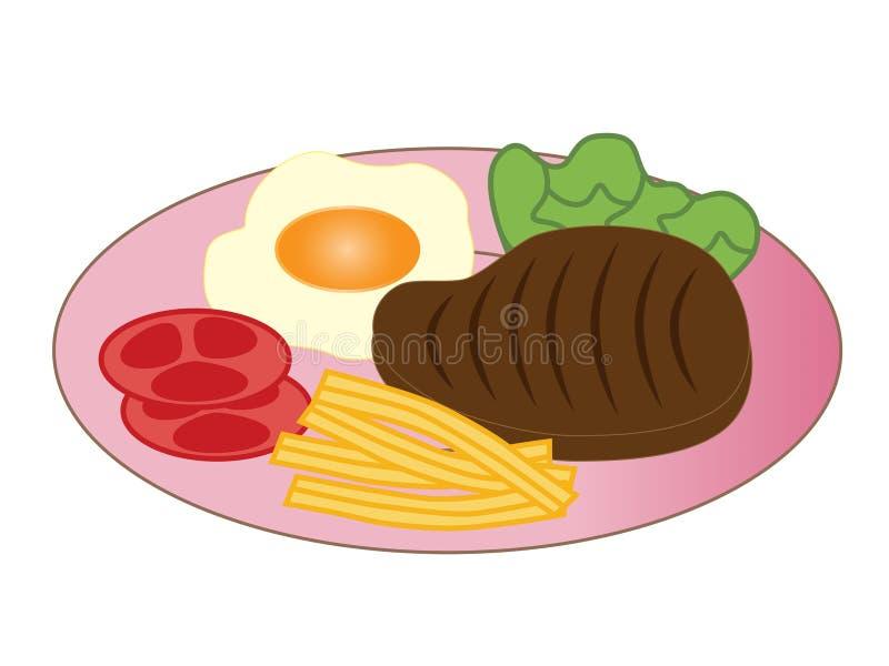 Download Delicious steak stock illustration. Illustration of dish - 30857245
