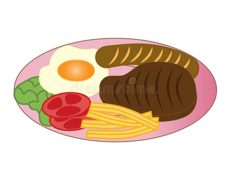 Download Delicious steak stock illustration. Image of lunch, beef - 30857250