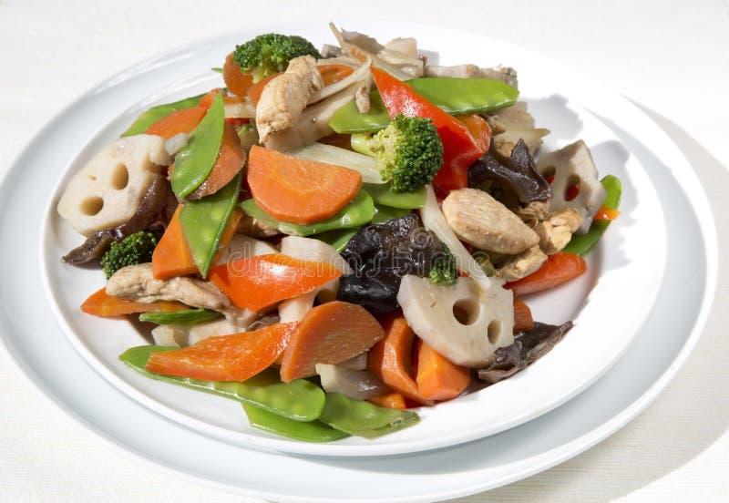 Delicious stir-fry food stock photo