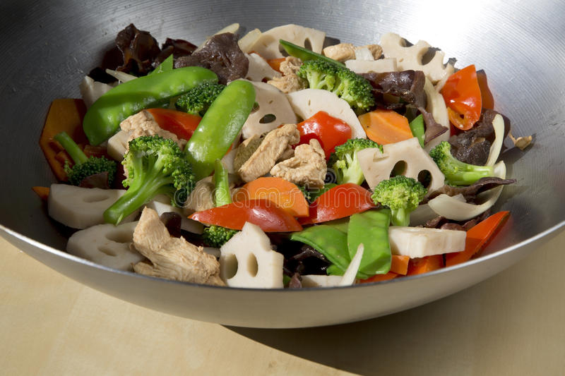Delicious stir-fry food stock images
