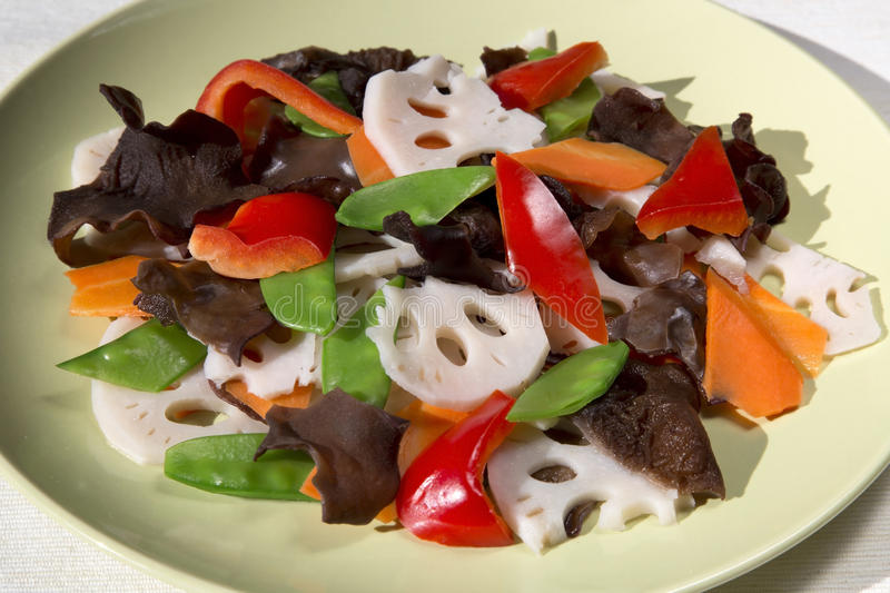 Delicious stir-fry vegetables royalty free stock images