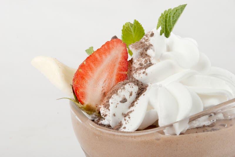 Delicious strawberry dessert stock image
