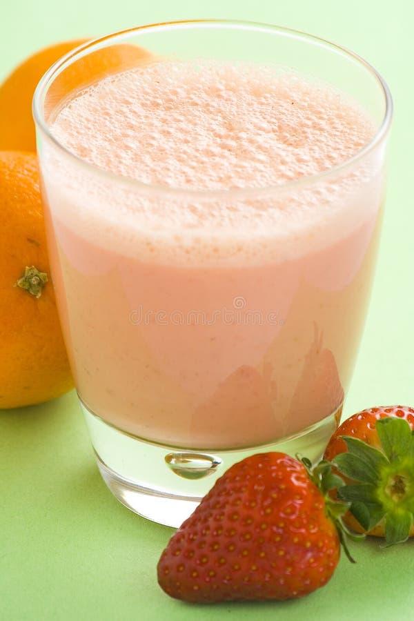 Download Delicious Strawberry Orange Banana Milkshake Stock Image - Image of fresh, natural: 8698795