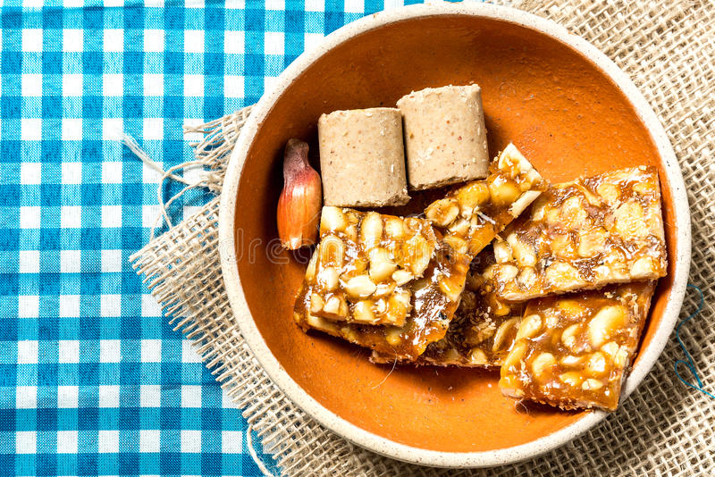 Delicious sweets for the Brazilian Festa Junina Party.  royalty free stock image
