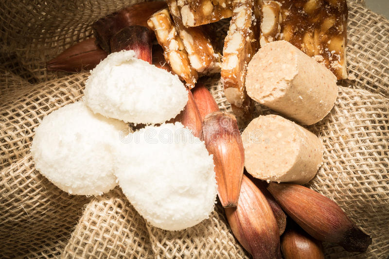 Delicious sweets for the Brazilian Junina Party (Festa Junina).  royalty free stock images
