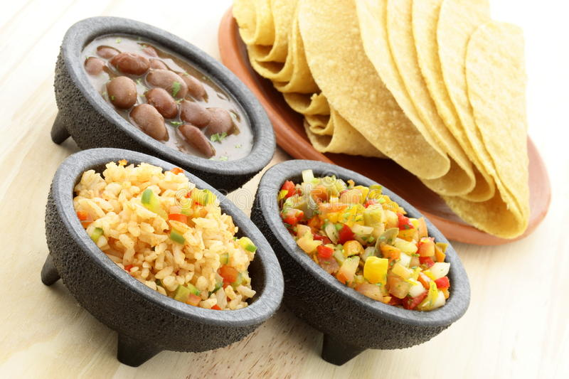 Delicious taco ingredients stock images