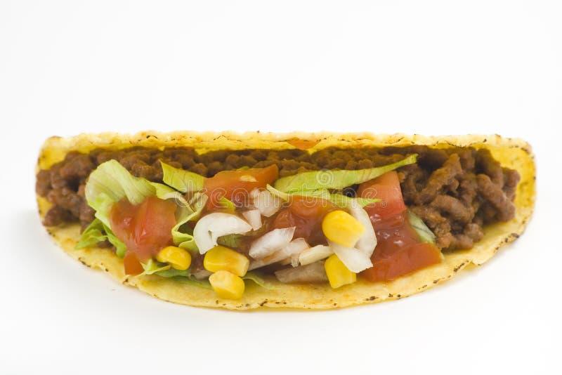 Delicious taco, mexican food stock image