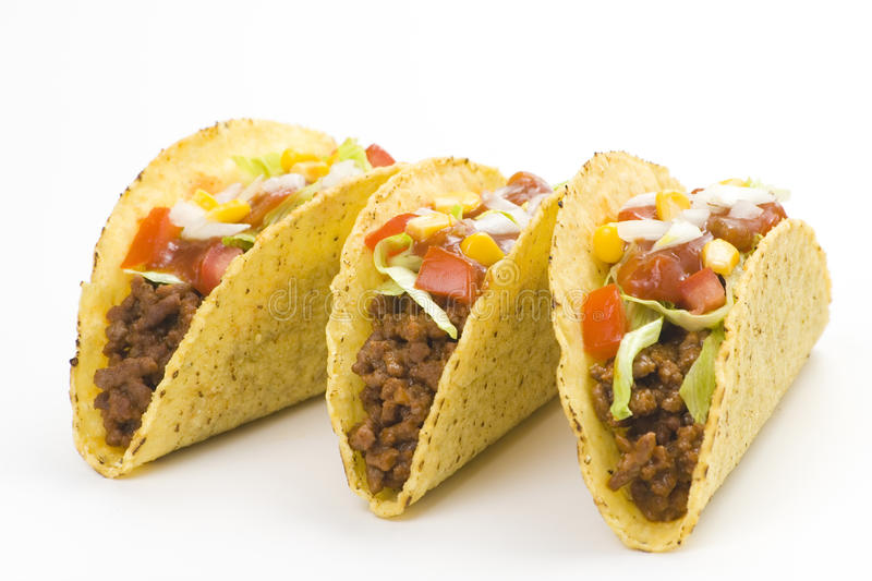Delicious taco, mexican food stock photography