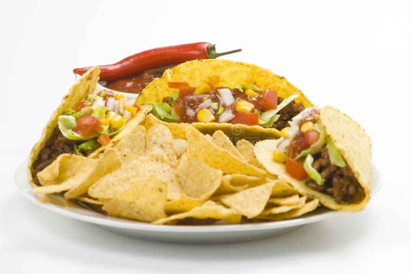 Delicious taco, mexican food stock photo