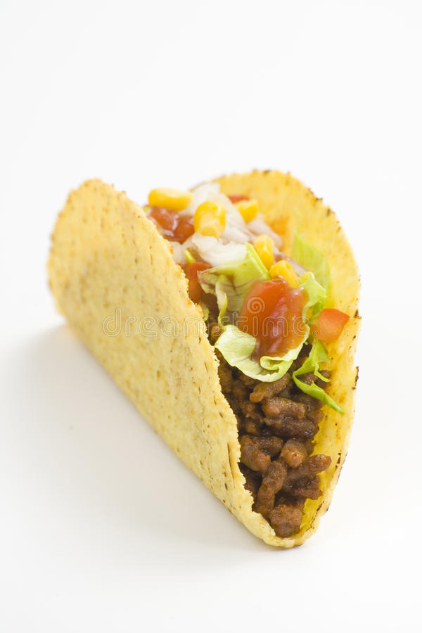 Delicious taco, mexican food royalty free stock images