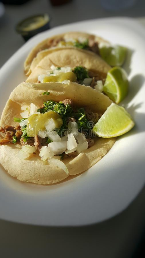 Delicious Tacos stock images