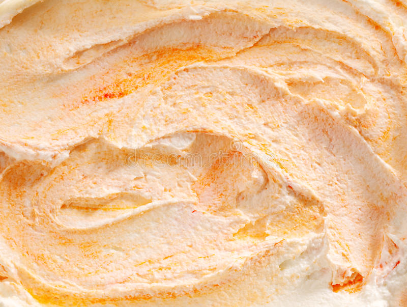Delicious tangy orange ice cream royalty free stock photography