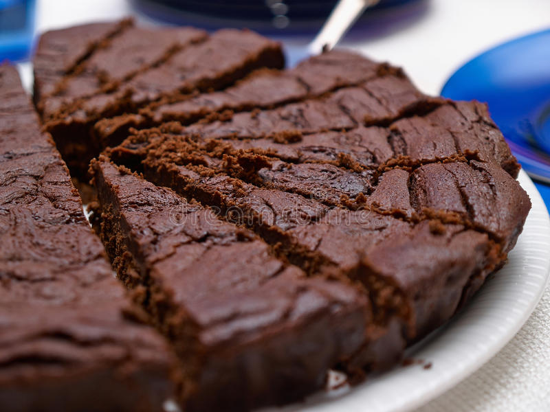 Delicious tasty homemade chocolate cakes stock images