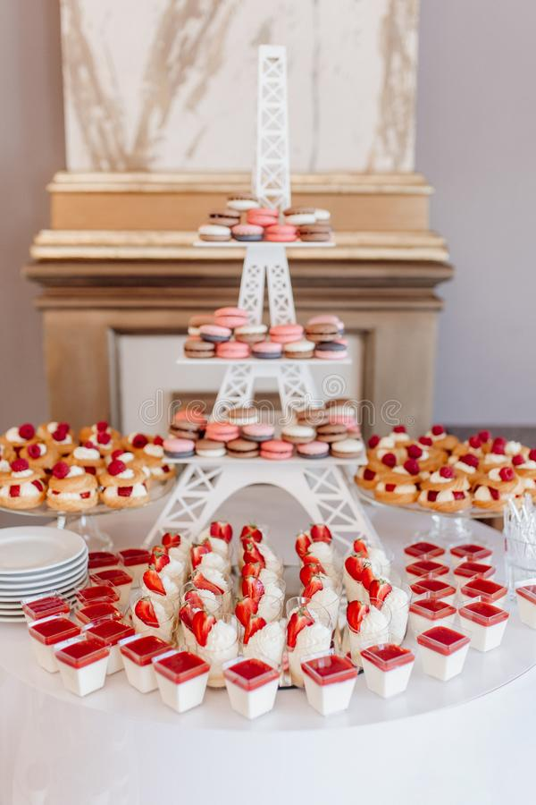 Delicious Tasty Wedding Food Composition for Guest stock image