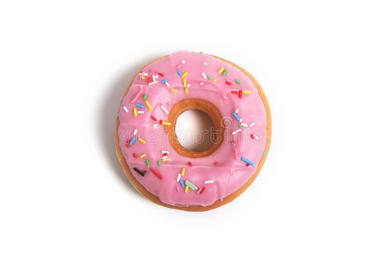 Delicious tempting donut with toppings unhealthy nutrition sugar sweet addiction concept royalty free stock photo
