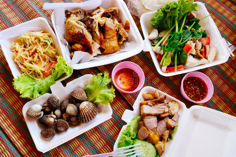 Delicious Thai food royalty free stock photography