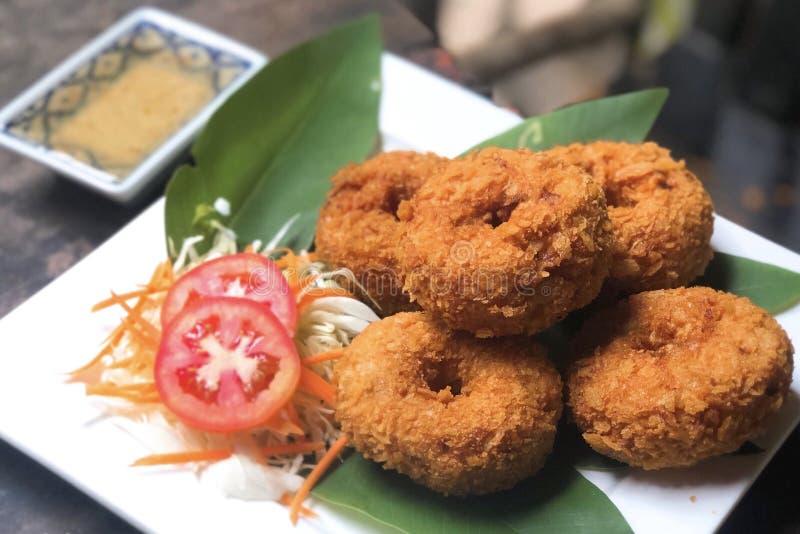 Shrimp cakes. The delicious Thai food, Shrimp cakes stock images