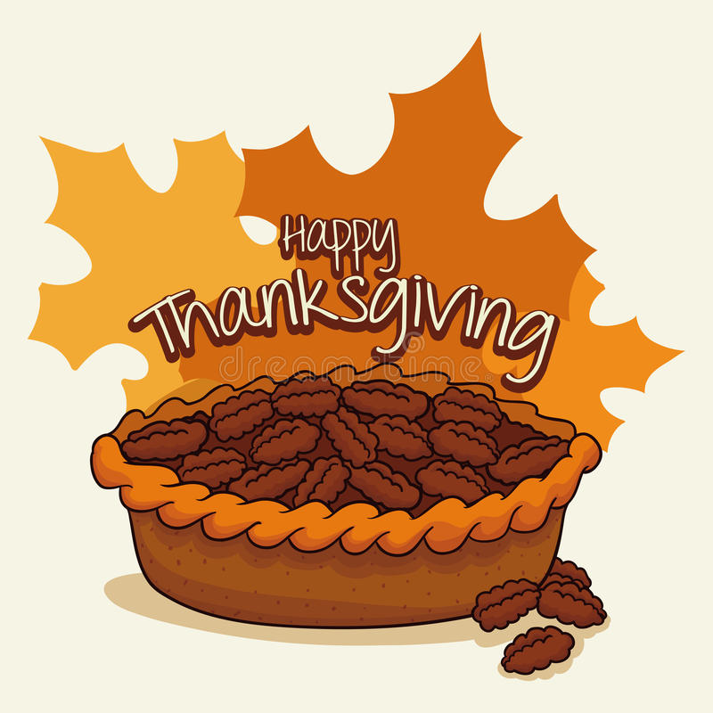 Delicious Thanksgiving Pecan Pie, Vector Illustration ...