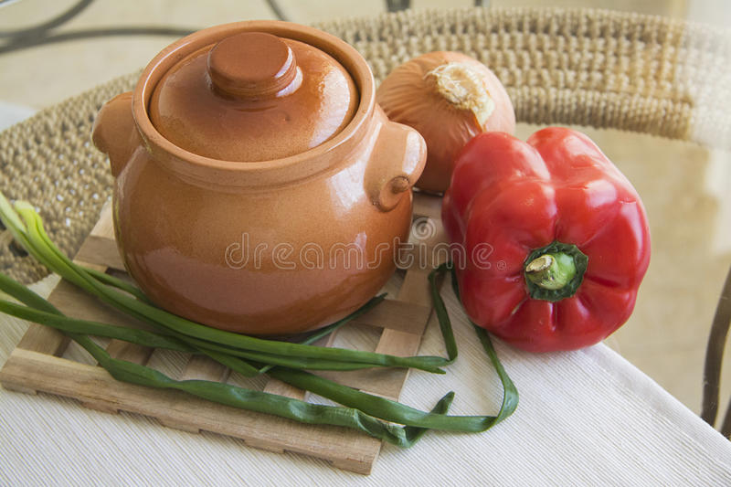 Delicious thick vegetable stew or soup royalty free stock images