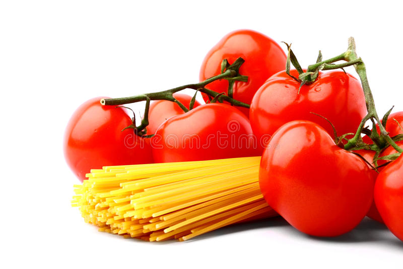 Delicious Tomatoes With Pasta Stock Photo