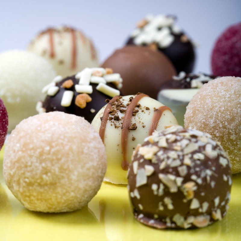 Delicious truffles. Great! royalty free stock photo