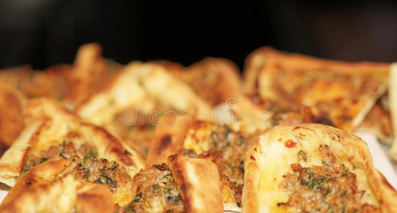 Delicious Turkish pide royalty free stock photography