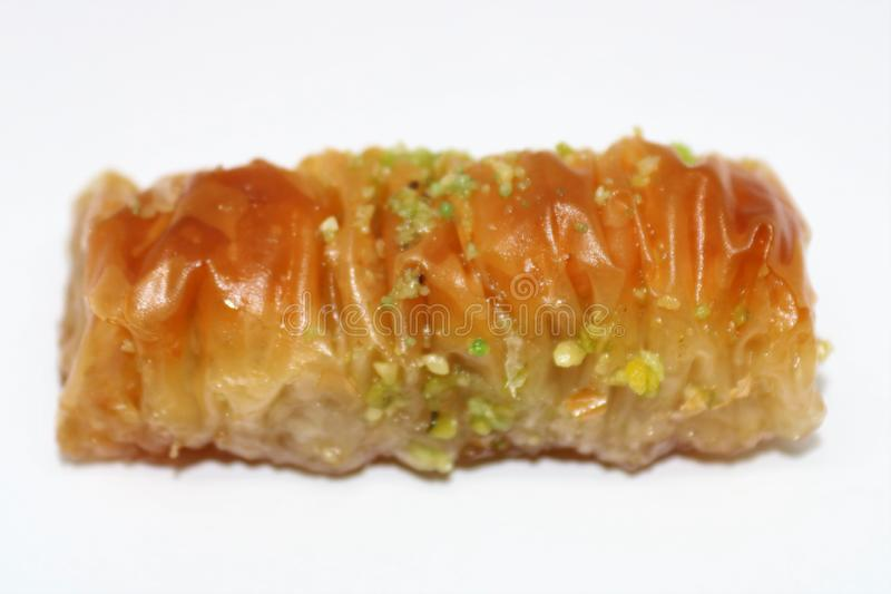 Delicious turkish style Antep baklava. royalty free stock images