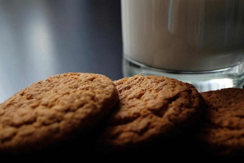 Delicious useful oatmeal cookies stock photography