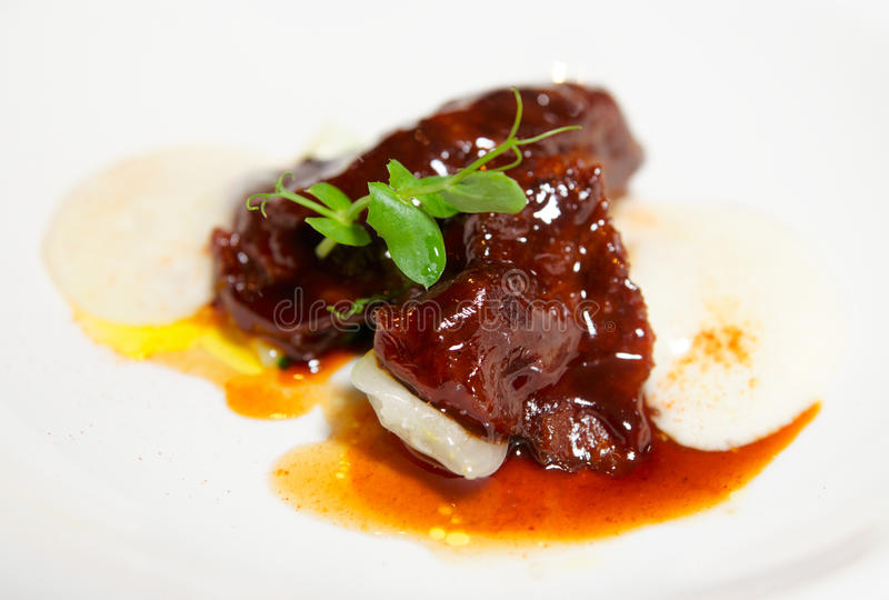 Delicious veal fillet stock images
