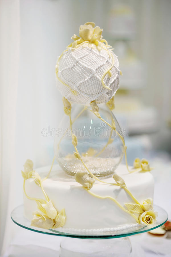 Download Delicious wedding cake stock photo. Image of ribbon, dessert - 23492254
