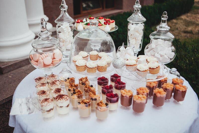 Delicious Wedding Reception Candy Bar Dessert Table ...