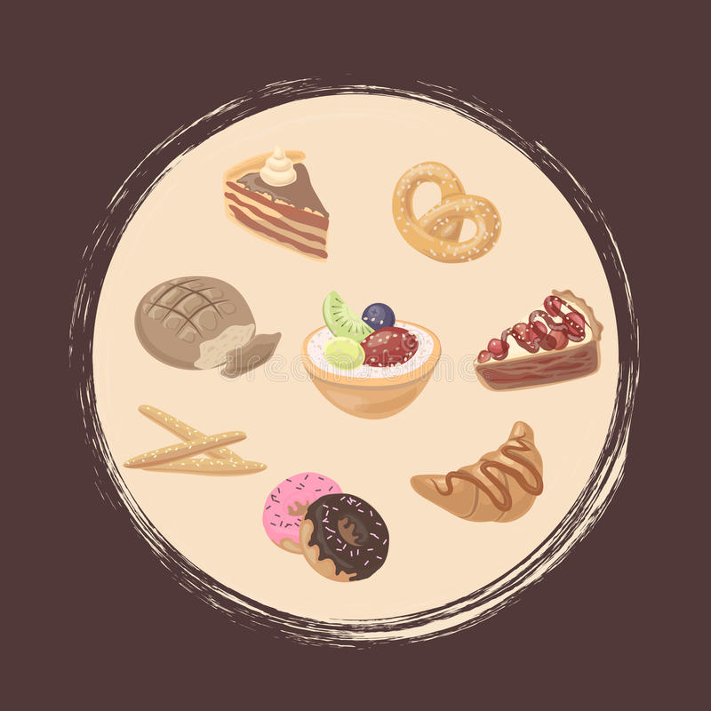deliciouses royalty ilustracja