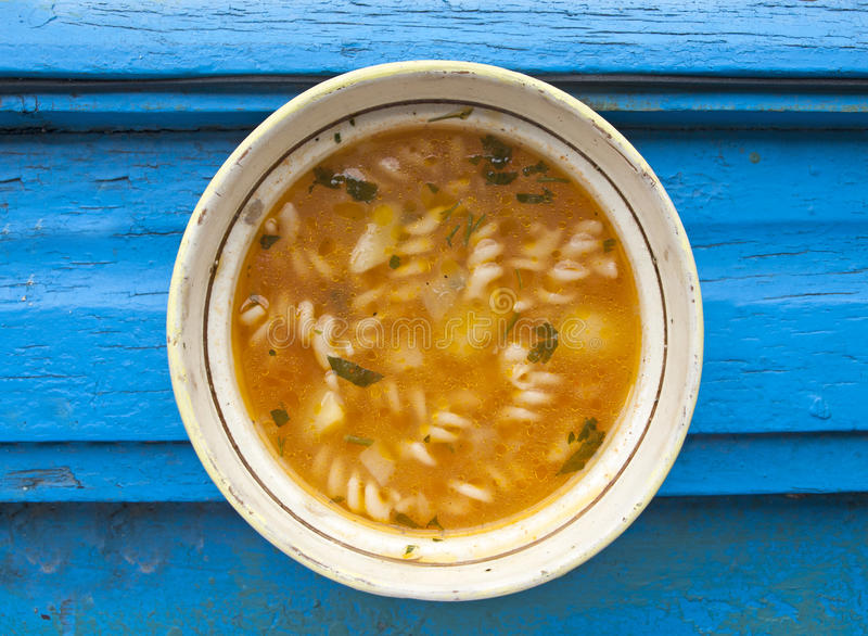 Deliciuous vegetables soup royalty free stock image