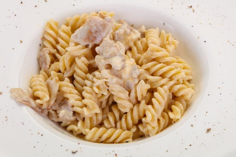 Delicous Pasta Carbonara royalty free stock photos