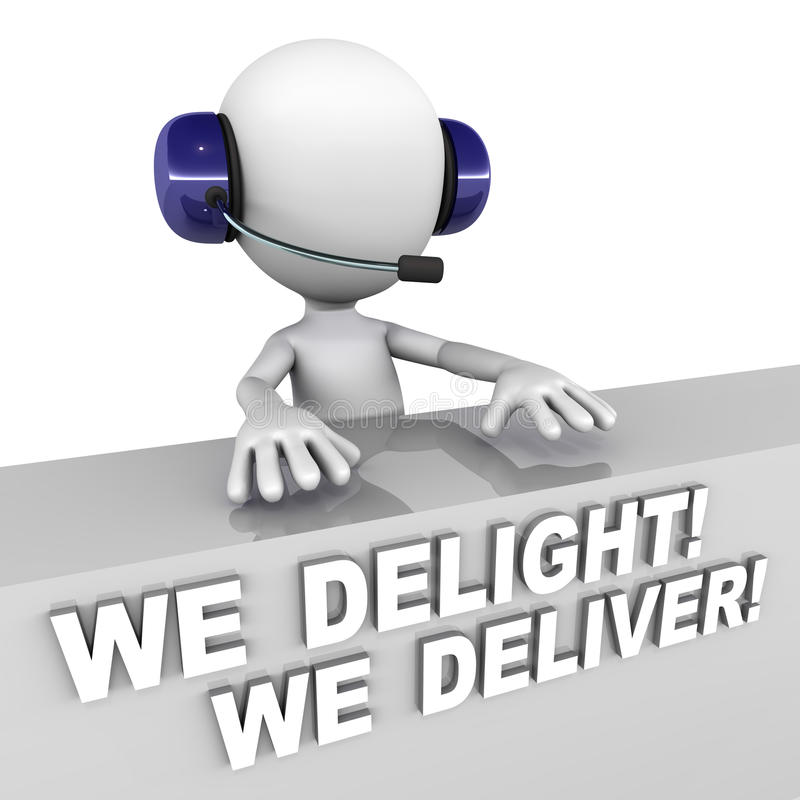 Delight and deliver stock illustration