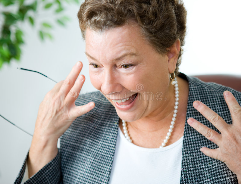 Delighted and Surprised Executive Businesswoman stock photos