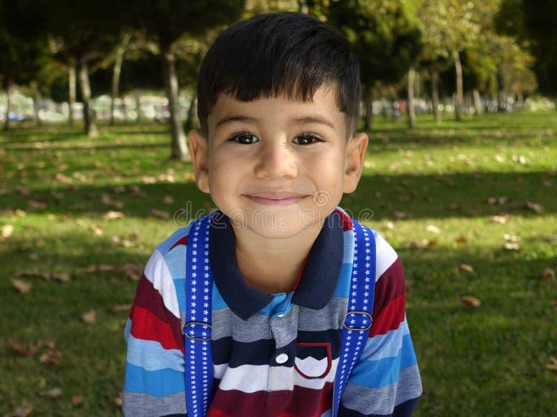 Delightful little boy portrait. stock photography