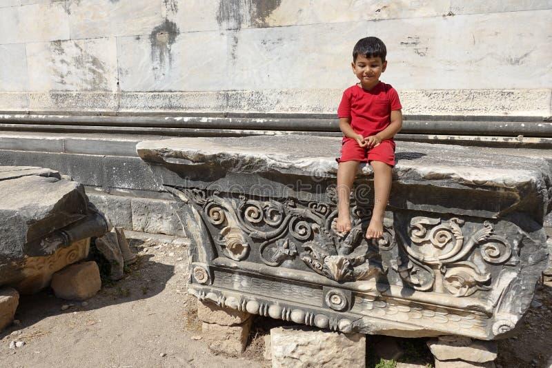Delightful little boy portrait. stock image