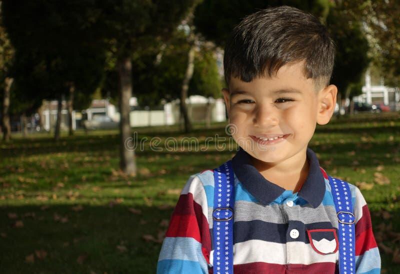 Delightful little boy portrait. royalty free stock photos
