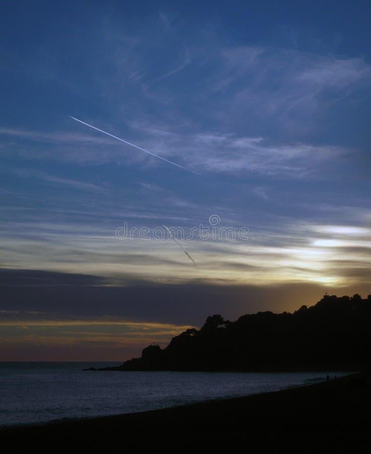 Delightful sea sunset royalty free stock image