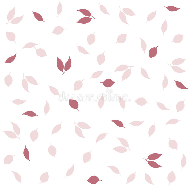 Delikat bakgrund för hösttappningstil Sömlös modell för idérik vektor med sidor royaltyfri illustrationer