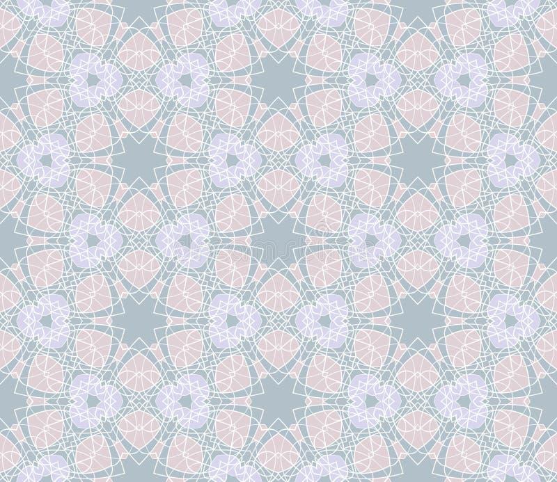 Delikat geometrisk sömlös modell Det kan vara nödvändigt för kapacitet av designarbete royaltyfri illustrationer